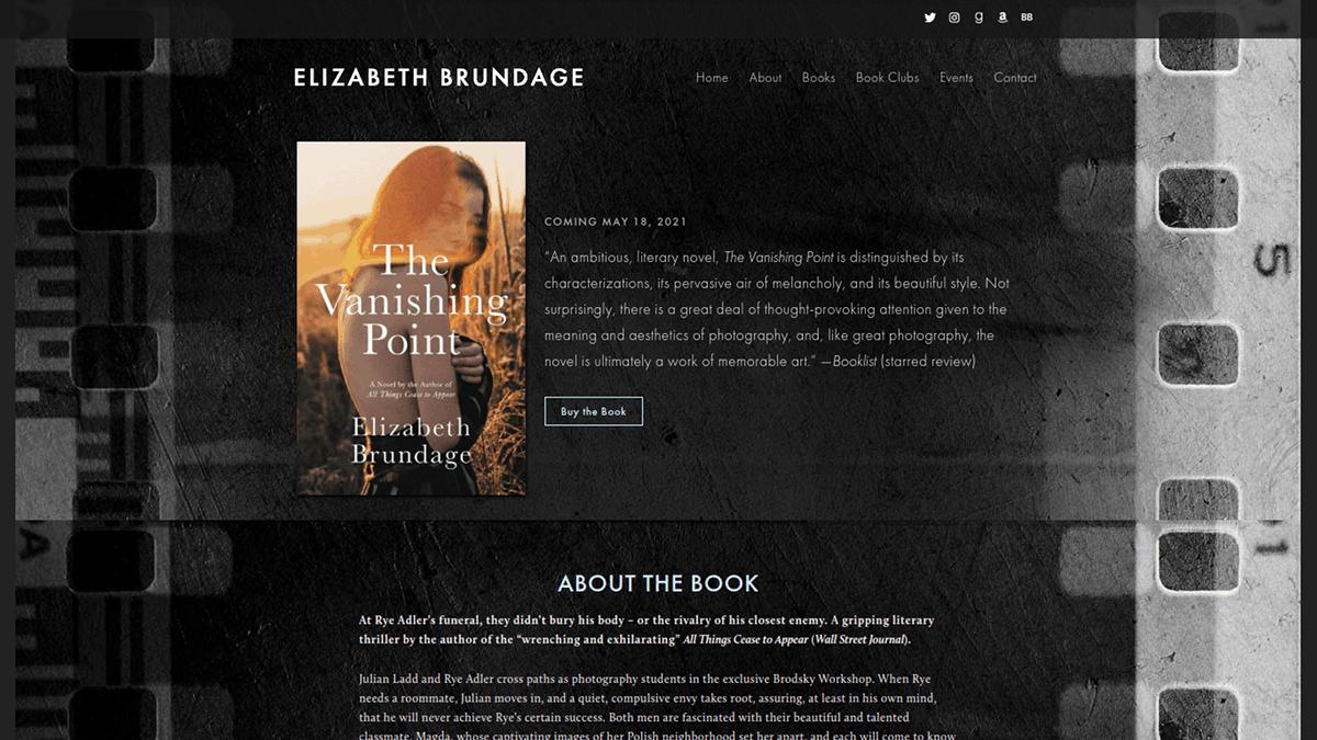Elizabeth Brundage Home Page Image